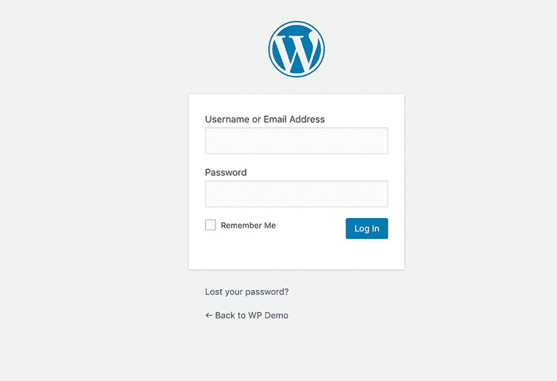 login page by going to yourdomainname.com/wp-admin