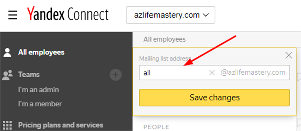 Select the desired address and press theSave changes button.