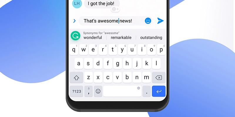Grammarly app on your phone