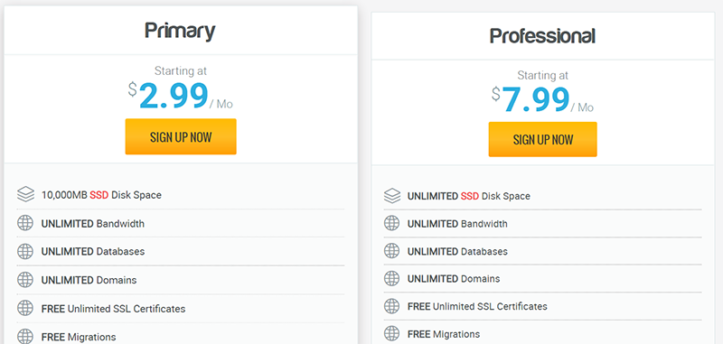 While all of these shared hosting plans are perfect for a new blog, I personally recommend Primary.