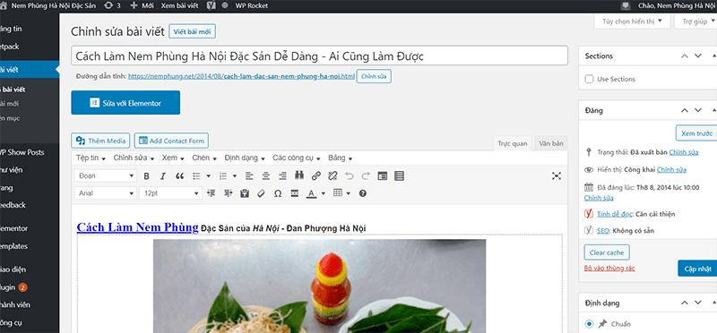 The article on NemPhung.net I wrote on August 8, 2014, is still top up until now