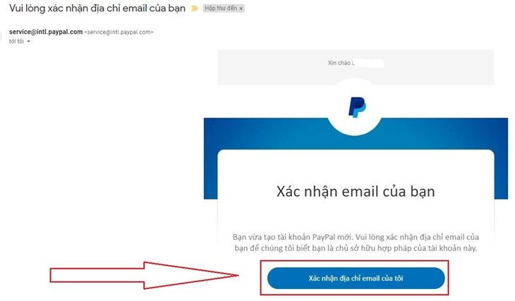 clicking the link in the email PayPal sent you.